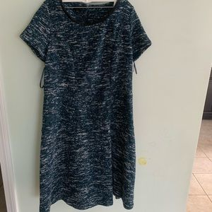 Talbots Tweed Knee Length Dress Size 14W NWT